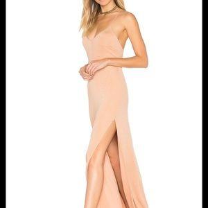 NEW NWT NBD Cream Gold Glitter Gown XS